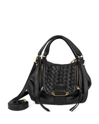 Kooba Jonnie Mini Woven Crossbody Bag Black