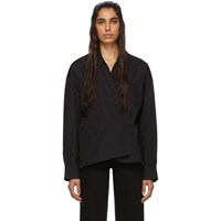 Christophe Lemaire Black New Twisted Shirt