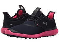 Puma Ignite Spikeless Sport Peacoat Silver Knockout Pink Women's Golf Shoes Black