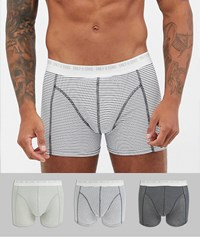 Only And Sons 3 Pack Striped Trunks Black