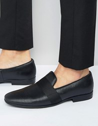 Aldo Asaria Leather Elastic Slipon Black