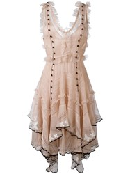 Alexander Mcqueen Butterfly Embroidered Dress Pink Purple