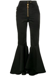 Ellery Flared High Waisted Trousers Black