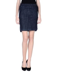Pinko Black Denim Skirts Blue