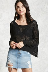 Forever 21 Open Knit Heart Sweater