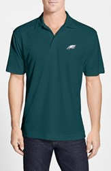 Men's Big And Tall Cutter And Buck 'Philadelphia Eagles Genre' Drytec Moisture Wicking Polo Midnight Green