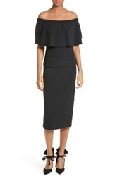 Tracy Reese Women's Flounce Off The Shoulder Midi Dress