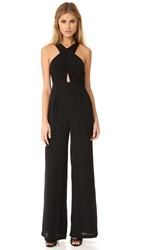 Mara Hoffman Cross Front Jumpsuit Black