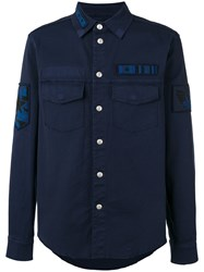 Valentino Military Patch Shirt Blue
