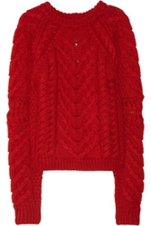 Isabel Marant Cable Knit Wool Sweater Net A Porter.Com