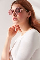 Urban Outfitters Sunshine Perfect Round Sunglasses Pink