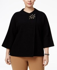 Jm Collection Plus Size Wool Topper Sweater Only At Macy's Deep Black
