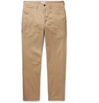 Bellerose Dunabeste Tapered Cotton Twill Trousers Tan