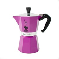 Bialetti Moka Express Colour Coffee Pot 6 Cup Violet