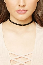 Forever 21 Faux Leather Beaded Choker