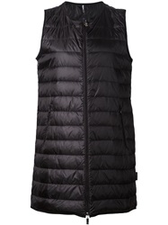 Moncler Long Padded Gilet Black