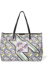 Mary Katrantzou Printed Coated Canvas Tote Green