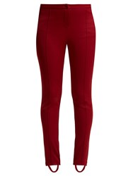 Gucci Technical Jersey Stirrup Leggings Dark Red
