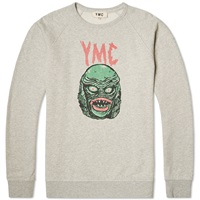 Ymc Creature Crew Sweat Grey