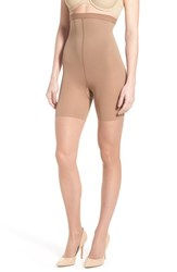 Women's Spanx 'Luxe' High Waist Leg Shaping Sheer Pantyhose Cocoa