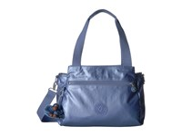 Kipling Elysia Satchel Metallic Scuba Diver Blue Satchel Handbags