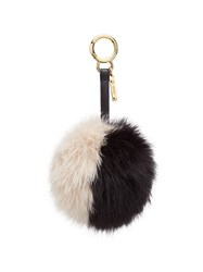 Fendi Bi Colour Pompom Charm Black