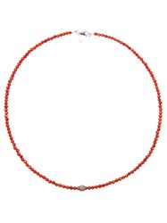 Catherine Michiels Beaded Necklace Red