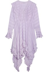 Philosophy Di Lorenzo Serafini Asymmetric Lace Paneled Seersucker Dress Lilac