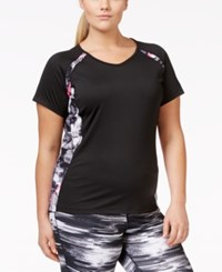 Ideology Plus Size Colorblocked T Shirt Only At Macy's Noir