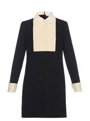 Red Valentino Lace Collar Tuxedo Dress