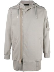 Diesel Black Gold Hooded Biker Jacket Nude Neutrals