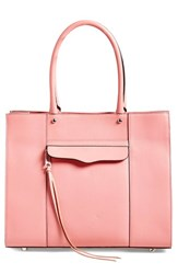 Rebecca Minkoff 'Medium Mab' Leather Tote Pink Rose Silver
