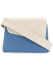 Me Moi Chiado Shoulder Bag Leather Blue