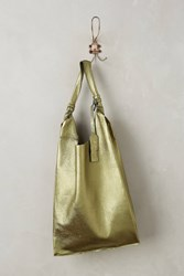 Anthropologie Reversible Leather Tote Green