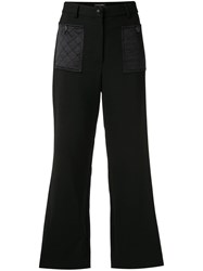 Chanel Vintage Cropped Straight Leg Trousers Black