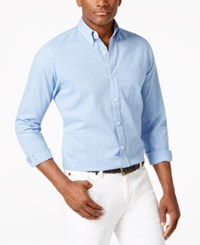 Club Room Amherst Micro Check Button Down Shirt Only At Macy's