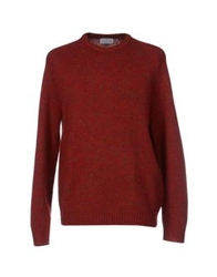 Hentsch Man Sweaters Brick Red