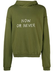 Haider Ackermann Now Or Never Print Hoodie Green