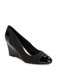 Bandolino Yerla Round Toe Wedges Black