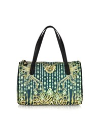 Just Cavalli Multicolor Eco Leather Satchel