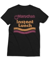 Mighty Fine Men's Maruchan Instant Lunch Graphic Print T Shirt Black