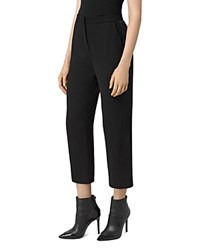 Allsaints Roya Cropped Tailored Pants Black