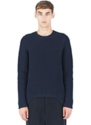Rick Owens Ribbed Knit Crew Neck Sweater