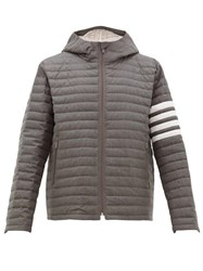 Thom Browne Quilted Wool Twill Jacket Grey