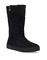Elliott Lucca Prima Suede And Sherpa Lined Boots Black