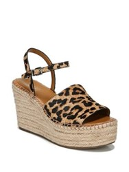 Franco Sarto Tula Calf Hair Wedge Espadrilles Camel