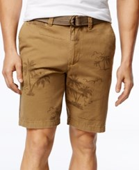 American Rag Men's Palmer Tropical Print Shorts Only At Macy's Dull Gold