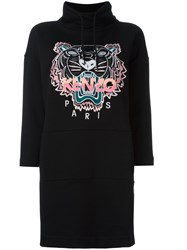 Kenzo Tiger Sweatshirt Dress Black