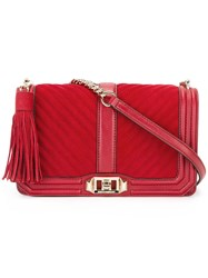 Rebecca Minkoff Quilted Cross Body Bag Red