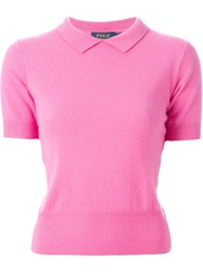 Polo Ralph Lauren Classic Collar Sweater Pink And Purple